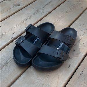 black rubber birkenstock's